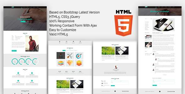 PORTFOLIO One Page HTML5 Template            TFx Devan Anderson