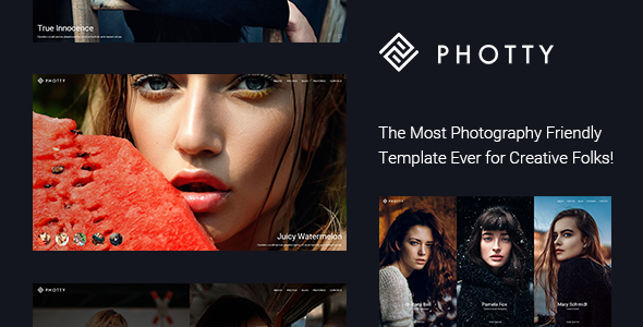 Photty - Photography HTML Template            TFx Alfie Jon