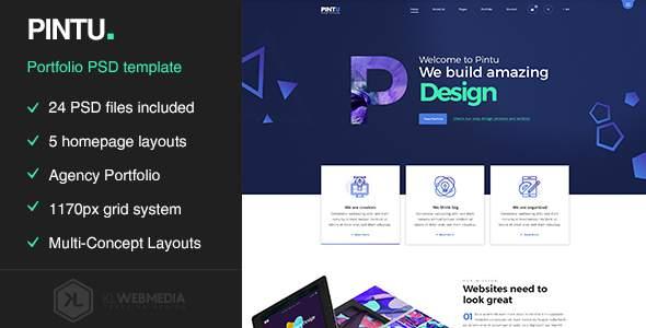 Pintu – Portfolio PSD template            TFx Gladwin Peregrine