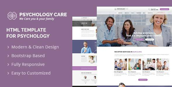 Psychology Care : Psychology & Counseling Template            TFx Nathaniel Spike