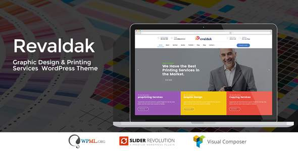 Revaldak - Printshop & Graphic Design Services WordPress Theme            TFx Garey Hank