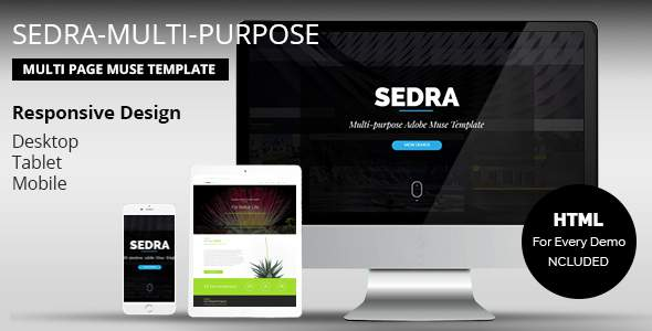 SEDRA Multi-Purpose Responsive Muse Template            TFx Aidan Royale