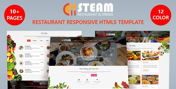 STEAM - Restaurant, Food & Drinks HTML 5 Website Template            TFx Sheridan Suleiman