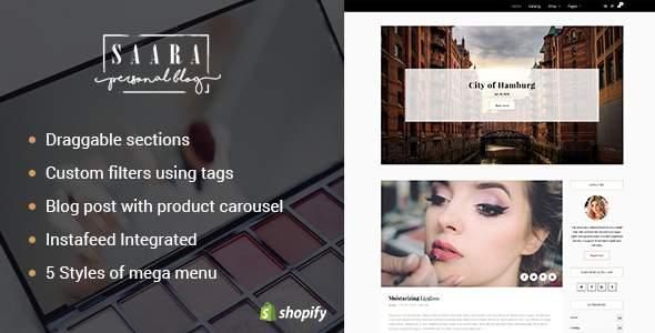 Saara – Blog Shopify Theme            TFx Marshall Trevelyan