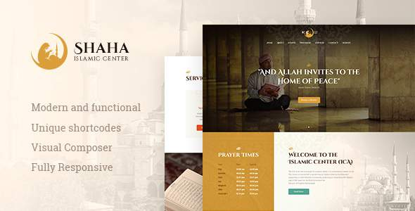 Shaha | Islamic Centre WP Theme + RTL            TFx Benj Stephen