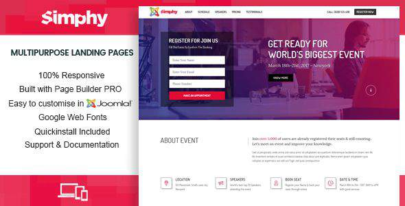 Simphy – Creative Multipurpose Joomla Landing Templates with Page Builder            TFx Jaiden Rolph