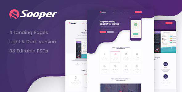 Sooper - Mobile, Desktop, Web App Showcase Template            TFx Amery Christopher