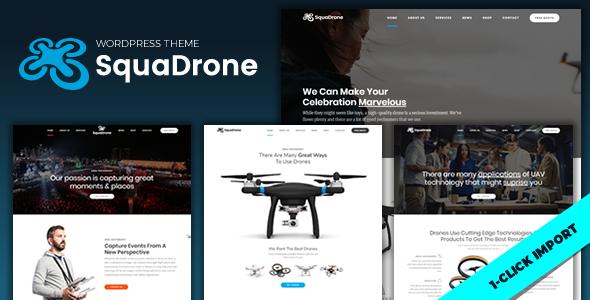 SquaDrone - UAV Business WordPress Theme            TFx Anderson Gabriel