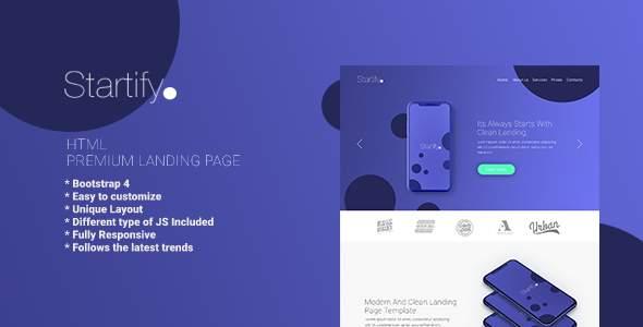 Startify - Premium HTML Landing Page            TFx Sinjin Aiden