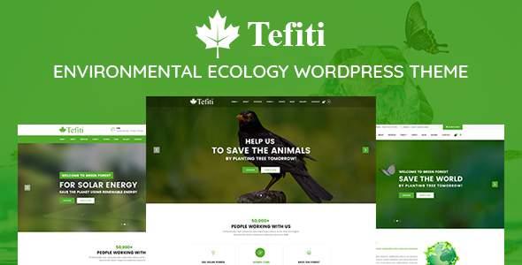 Tefiti- Environmental Ecology Responsive WordPress Theme            TFx Irvin Osborn