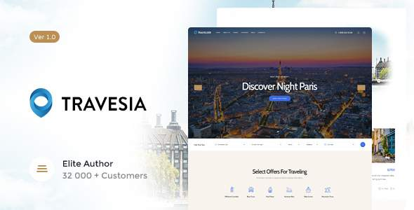 Travesia | Travel Agency WordPress Theme            TFx Ellery Citlalli