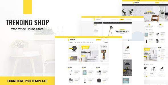 Trending Shop - Furniture PSD Template            TFx Bud Camron