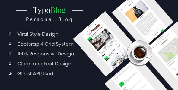 Typoblog – Personal Blog Ghost Theme            TFx Kennard Hudson