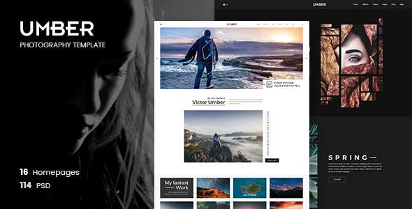 Umber Photography | Photography PSD Template            TFx Norm Sandy