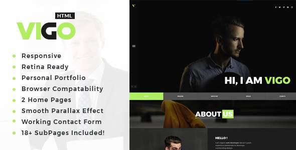 Vigo : Personal Portfolio HTML Template            TFx Jemmy Murray