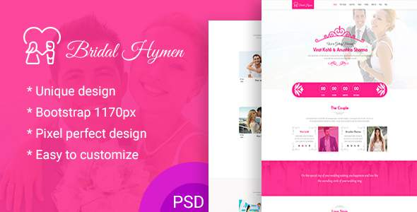 Wedding PSD Template            TFx Wisdom Donny