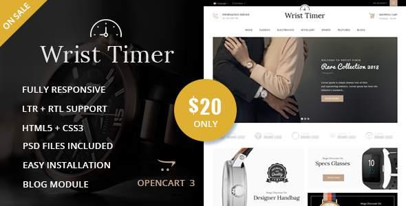 Wrist Timer - OpenCart Responsive Theme            TFx Putu Ryo