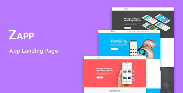 Zapp - App Landing Page            TFx Hoyt Mathew