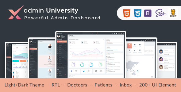 adminX University - Material Admin Dashboard UI Kit            TFx Erle Milford