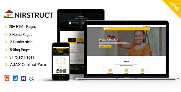 iConstruct - Responsive Construction HTML5 Template            TFx Roly Reginald