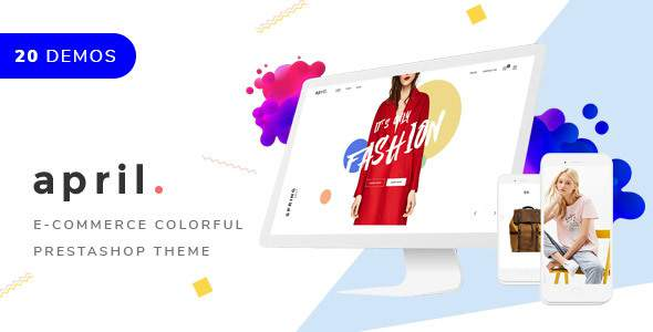 APRIL - Responsive PrestaShop Themes 20+ minimal creative designs for fashion jewelry furniture food            TFx Rouben Merlyn