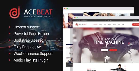 AceBeat - DJ Personal Page WordPress Theme            TFx Quintilian Rowan
