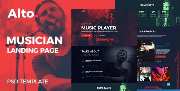 Alto - Musician Landing Page            TFx Roydon Cletus