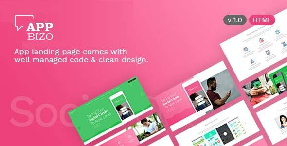 AppBizo - Landing Page for Mobile Apps            TFx Max Lucius