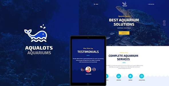 Aqualots | Aquarium Services WordPress Theme            TFx Solomon Edison