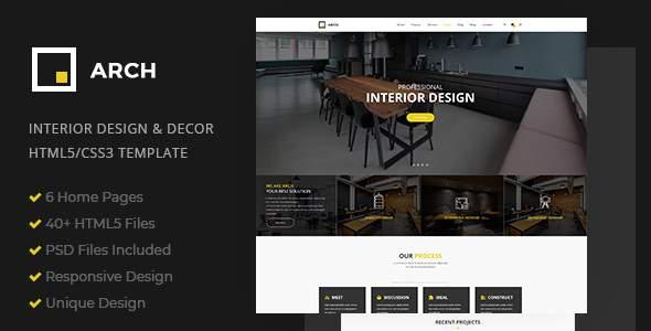 Arch Decor - Interior Design, Architecture and Building Business HTML5 Template            TFx Vere Elvin