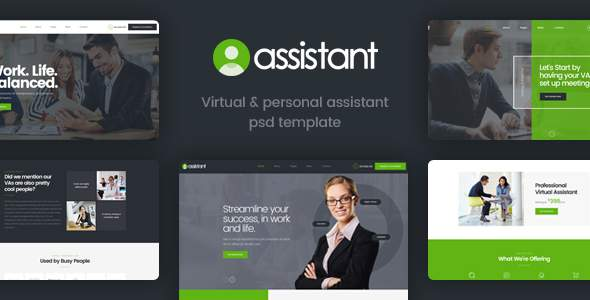Assistant - Virtual and Personal Assistant Template            TFx Laurence Langdon