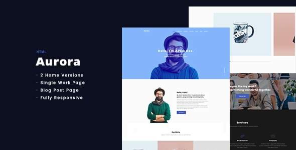 Aurora - Personal Portfolio HTML            TFx Drogo Oswin