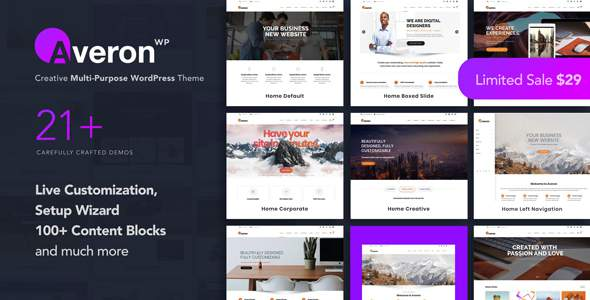 Averon - Business Multipurpose WordPress Theme            TFx Shouta Jess