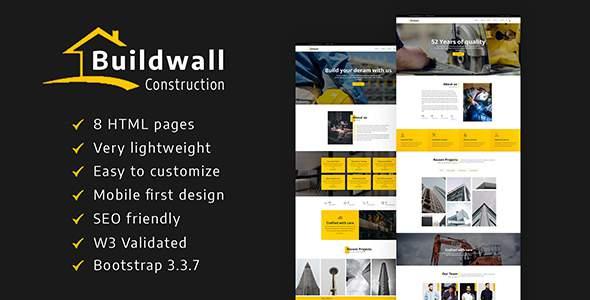 BUILDWALL – A Lightweight & Modern Construction Template            TFx Elvin Petros