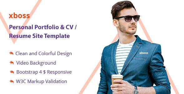 Bapjan Personal Portfolio & CV / Resume Site Template            TFx Merlin Sheard