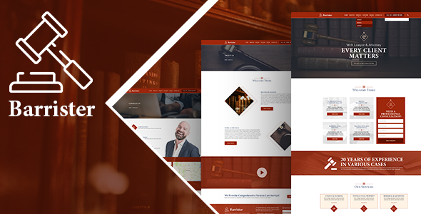 Barrister - Lawyer Attorney HTML Template            TFx Sid Kichirou