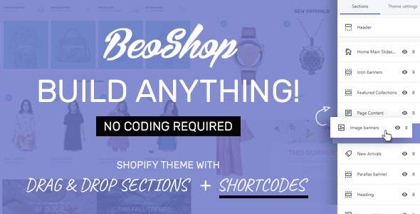 BeoShop - Drag & Drop Responsive Shopify Theme            TFx Milburn Shelton