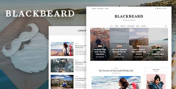 Blackbeard - Elegant Blog Template            TFx Edmund Reid