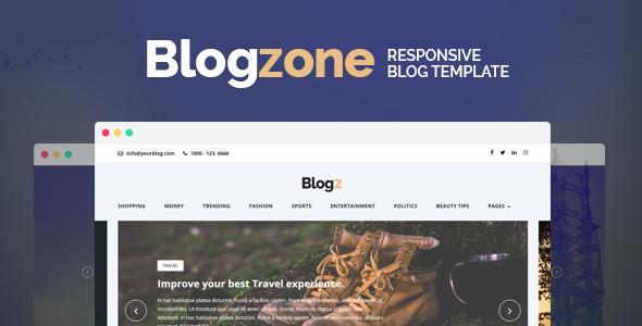 Blogzone - Responsive Blog  Template            TFx Cat Kisecawchuck