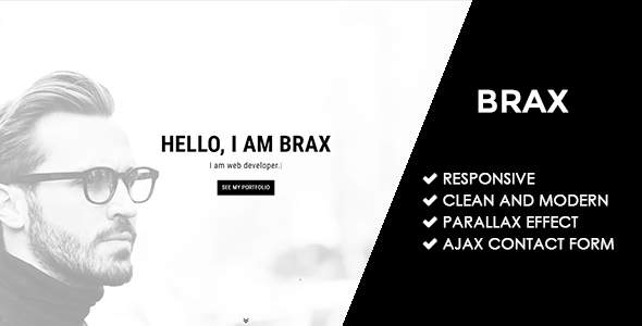Brax | Responsive Personal Portfolio Template            TFx Tommie Levon