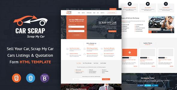 Car Scrap Service HTML Template            TFx Logan Rudolf
