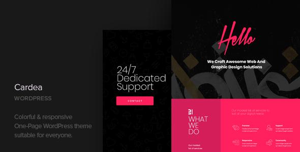 Cardea - Portfolio One Page WordPress Theme            TFx Hughie Troy