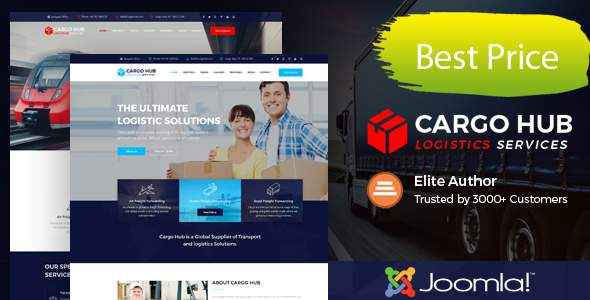Cargo HUB - Transport Joomla Theme for Transportation, Logistics and Shipping Companies            TFx Allan Merlyn