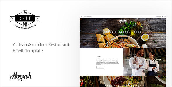 Chef | Restaurant HTML Template            TFx Milton Vivian