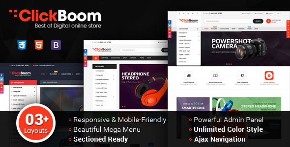 ClickBoom - Responsive Multipurpose Shopify Theme (Sections Ready)            TFx Bob Tom