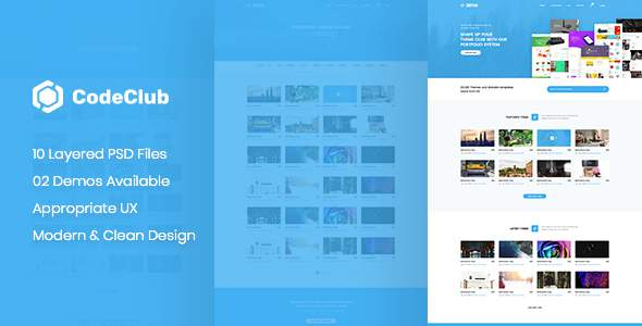 CodeClub - Digital Product Showcase PSD Template            TFx Maximillian Humbert