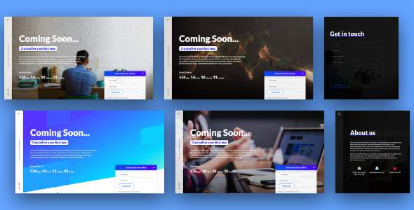 Coming Soon Page / Landing Page HTML Template            TFx Zarathustra Osborne