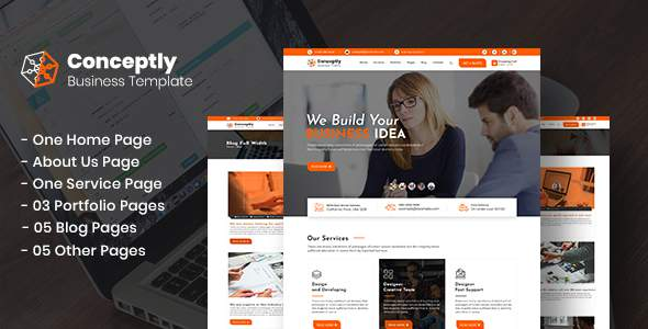 Conceptly - Business, Finance PSD Template            TFx Mackenzie Edwyn
