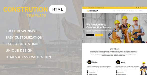 Construct - Construction and Building Website Template            TFx Vardan Adrian