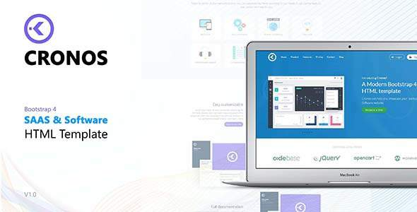 Cronos - Software/Startup HTML Template            TFx Stew Jadyn